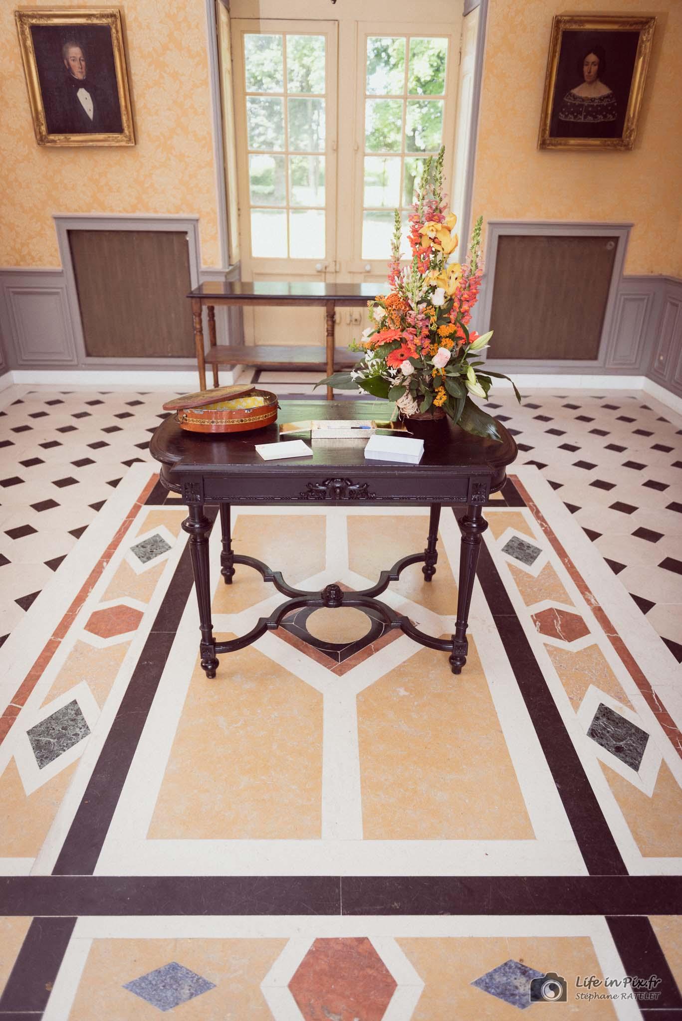 entrée de la salle de réception - mariage chateau d'auvillers - le temps d'un event